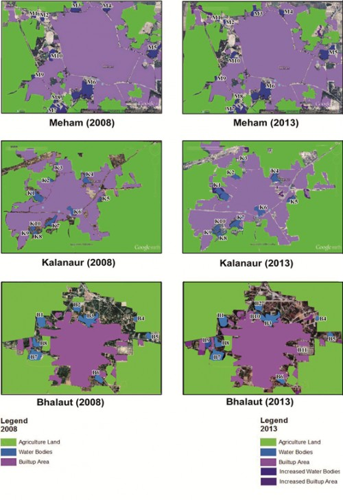 Thematic maps of Landscape Features of Selected Villages of Rohtak District