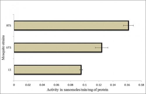 Glutathione S Transferase Levels of Laboratory and Field Populations of Cx. Quinquefasciatus