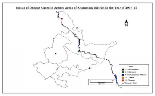 Status Dengue cases in the Khammam district tribal area in year 2014 and 2015 respectively