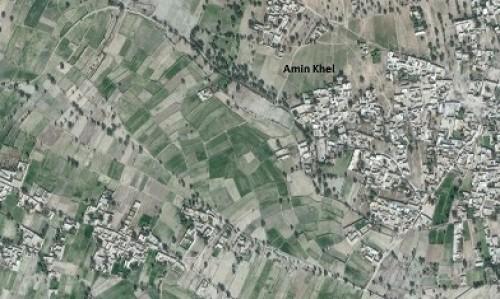 Map of Amin Khel sampling site of District Karak KP, Pakistan.