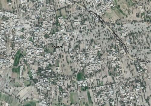Map of Chokara site of District Karak Khyber Pakhtunkhwa, Pakistan.