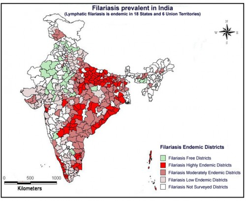 The first report of JE epidemics across the country and the spatial diffusion of JE epidemics in the newer areas, where the intensive wet cultivation is being practiced.(1956-2012), source: M.Palaniyandi, 2013