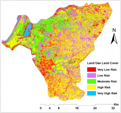 Socio-economic factors that affect malaria occurrence and distribution in the study. c) Reclassified land uses