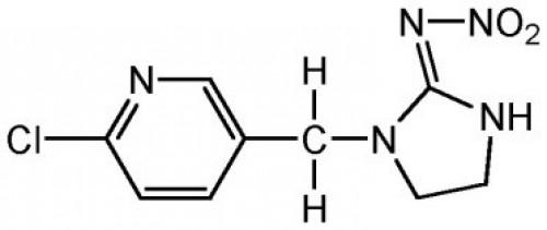 Common name: Imidacloprid Trade name: Mallet 35% SC Chemical formula: C<sub>9</sub>H<sub>10</sub>ClN<sub>5</sub>O<sub>2</sub>
