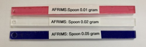 Design of the AFRIMS spoons used for larva food feeding