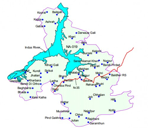 Map of district Haripur